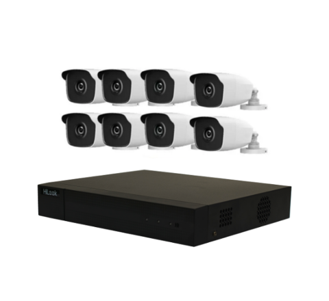 8 Camera HiLook by Hikvision Kit: DVR, 8 x 4MP IR Cameras, 8 x 10m Cables & PSU [1-2924]