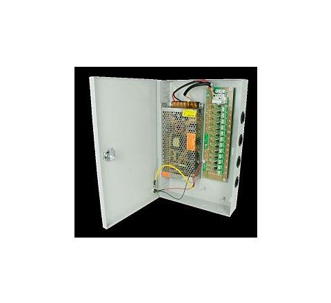 12V PSU 9 Ports 10amp Wall Mount Power Supply Unit [3455]