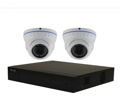 2 Camera Combo Kit: Hikvision Hilook DVR & x2 Domes 2MP 3.6mm [2-3054]