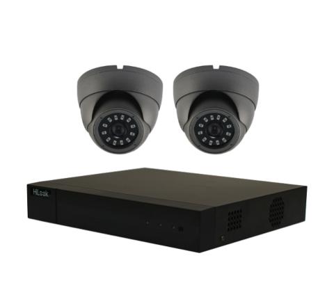 2 Camera Combo Kit: DVR [3655] & x2 Grey Sony Starvis Domes 5MP [3122G] 3.6mm [3145-2]