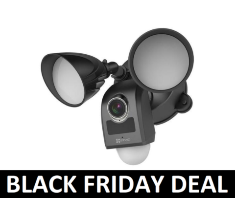 EZVIZ LC1 2MP Black Outdoor Security Flood Light Camera BF [1-3017]
