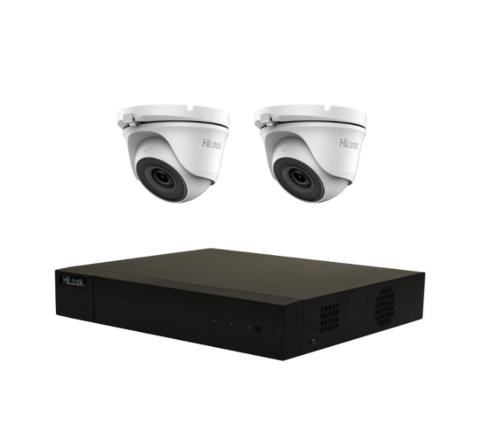 2 Camera HiLook Audio Combo: DVR, 2 x 2MP Mini Turret with Mic [3203-2]