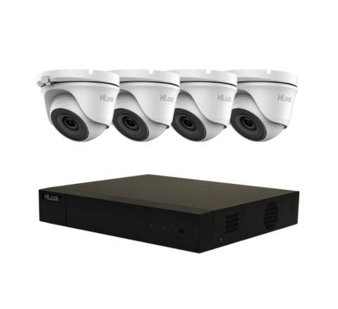 4 Camera HiLook Audio Combo: DVR, 4 x 2MP Mini Turret with Mic [3204-2]