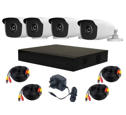 4 Camera HiLook by Hikvision Kit: DVR, 4 x 4MP IR Cameras, 4 x 10m Cables & PSU [3695]