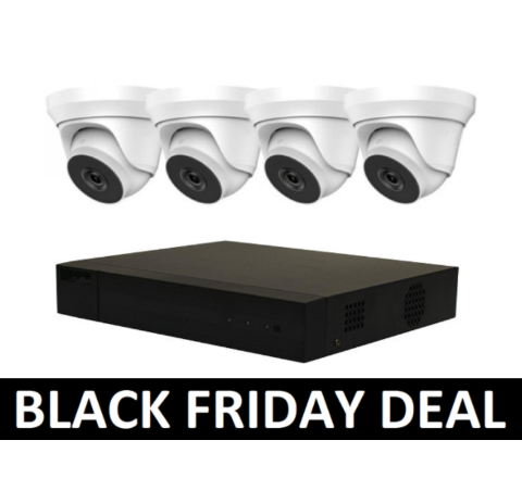 4 Camera HiLook IP COMBO: 4ch NVR, 4 x IP Dome 2.8mm Cameras BF [3774-28]