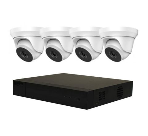 4 Camera HiLook IP COMBO: 4ch NVR, 4 x IP Dome 2.8mm Cameras [3774-28]