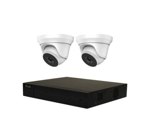 Camera Combo Kit: Hikvision Hilook DVR-3655 & TWO Sony Starvis Domes 5MP-3120 3.6mm [2-3056]