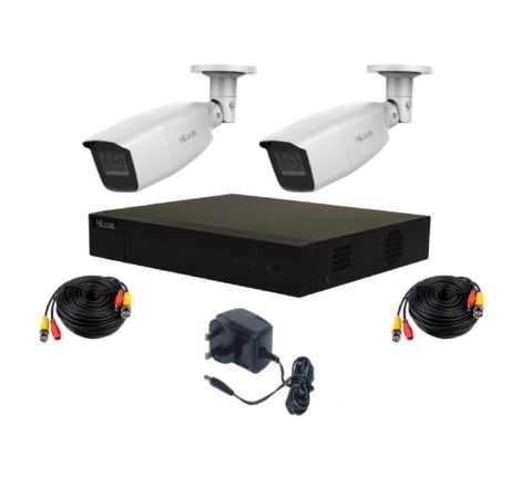 HiLook by Hikvision Kit - 4 Bullets & Cables, PSU [3788]