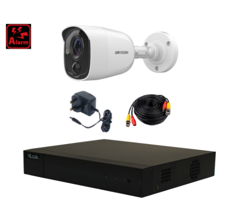 *Alarm Special* HiLook 4ch DVR, Hikvision 5MP Alarm Camera, 10m Cable & PSU [1-2935]