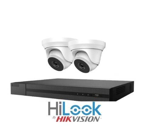Hikvision HiLook 2 Camera IP POE Combo: NVR & 2 x HiLook 4MP Dome Cameras [3775]