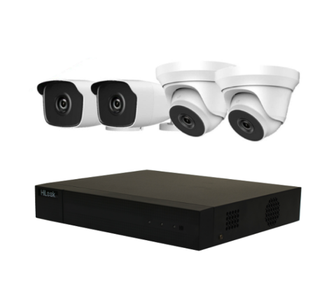 4 Camera HiLook by Hikvision Kit: 2 x Dome, 2 x Bullet & DVR [3185-2]