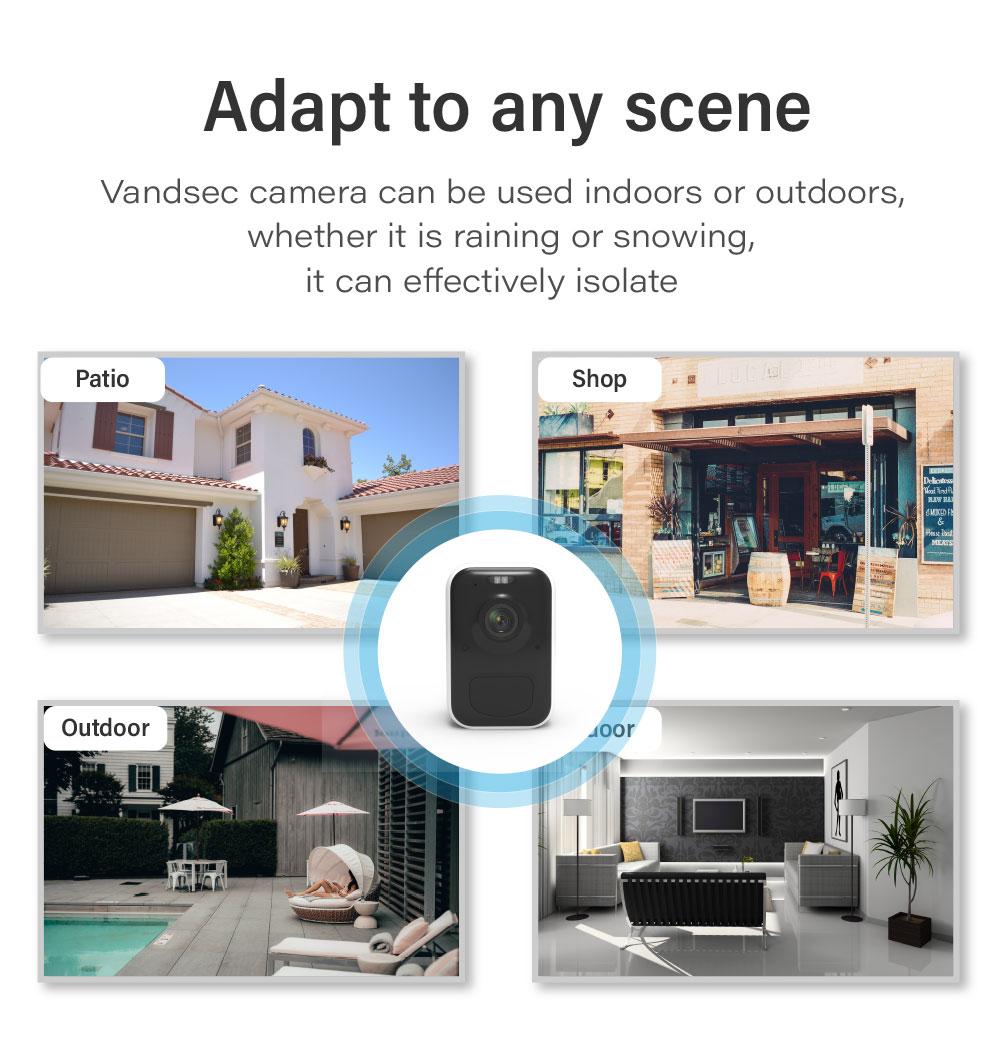 Wireless Outdoor Battery Powered Smart Home Camera & Bracket [3102-3-Bracket]