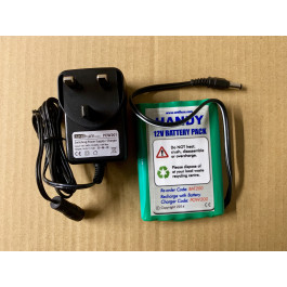 Rechargeable Battery Pack (green) 12V and Mains Charger