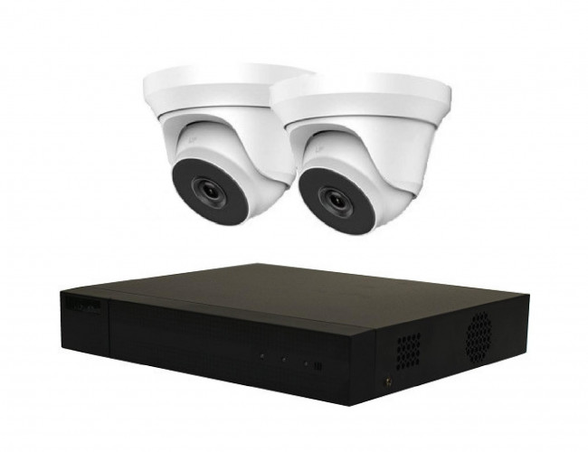 HiLook by Hikvision IP NVR 3696 and TWO HiLook 4MP Dome