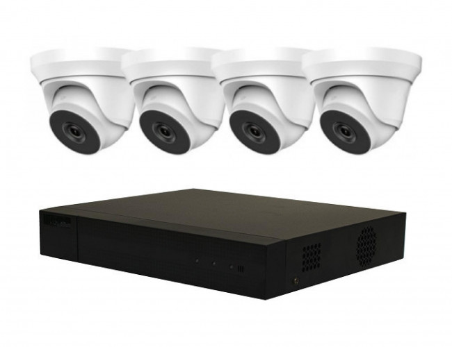 4 Camera IP HiLook by Hikvision COMBO Kit: 8ch NVR & 4 x HiLook Dome