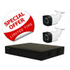 2 Camera Combo: Hikvision HiLook DVR [3655] & 2 x IR Cameras [3350] 3.6mm OFFER [3967]