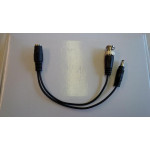 Conversion Cable Mini-Din (F) to DC & RCA (F)
