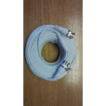 Cable BNC HD-SDI/TVI/AHD/960H BNC-BNC and DC White 20m