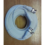 Cable BNC HD-SDI/TVI/AHD/960H 25m BNC-BNC and DC White