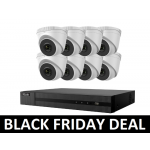 8 Camera HiLook COMBO: 8ch POE NVR & x8 IP POE Dome Cameras