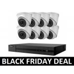 8 Camera HiLook COMBO: 16ch POE NVR & x8 IP POE Dome Cameras