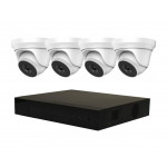 HiWatch by Hikvision IP NVR 3696, x4 HiLook IP 4MP Dome Turret Cameras 3771 [3774]