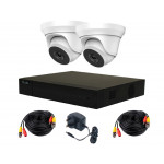 2 Camera HiLook by Hikvision Kit: DVR, 2 x 4MP Dome Cameras, PSU & 10m Cables [3779]
