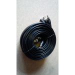 Cable BNC HD 10m BNC-BNC and DC with Audio Black  [3149]
